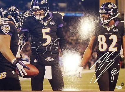 cba7ef142c7 Joe Flacco   Torrey Smith Autographed Signed Baltimore Ravens 16x20 Photo  Memorabilia - JSA Authentic