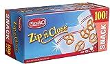 Plastico Zip 'N Close Resealable Plastic Snack Bags
