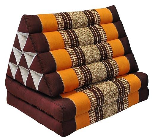 Cojín piramidal tailandés con pequeño colchón de 2 dobladas ...