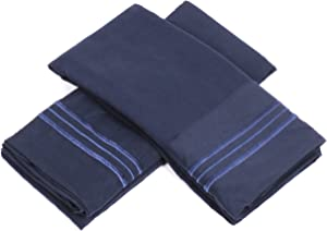 Sweet Home Collection 1500 Series Egyptian Quality Deep Pocket Pillowcase, Standard, Navy