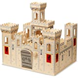 Melissa & Doug Deluxe Folding Medieval Wooden Castle - Hinged for Compact Storage^Melissa & Doug Deluxe Folding Medieval…