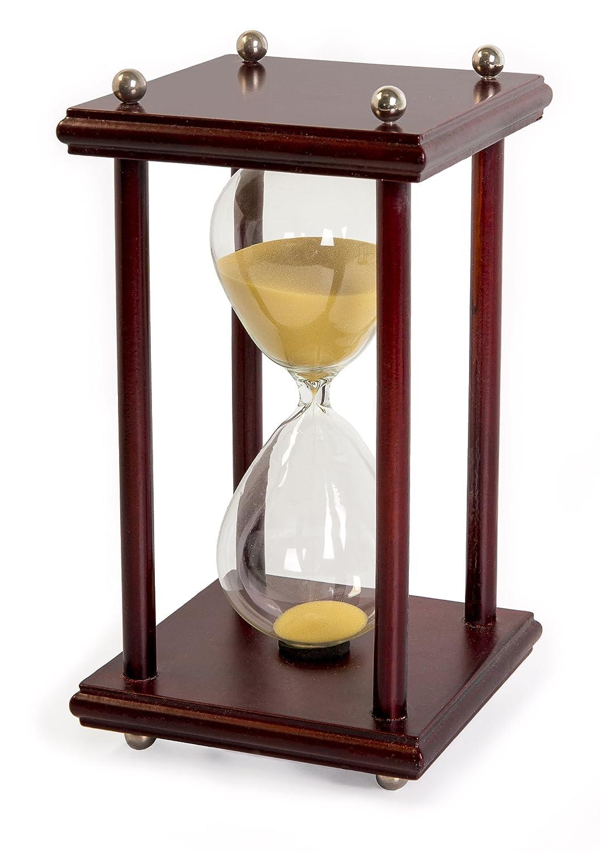 amazon com hourglass sand timer 60 minute 1 hour wood sand timer
