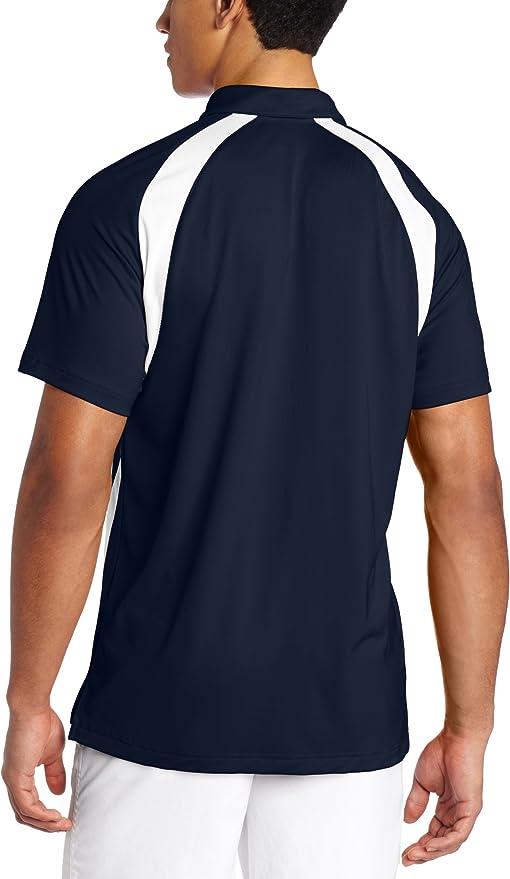 Asics Polo da Uomo Broc, Blu ScuroBianca, Piccola: Amazon