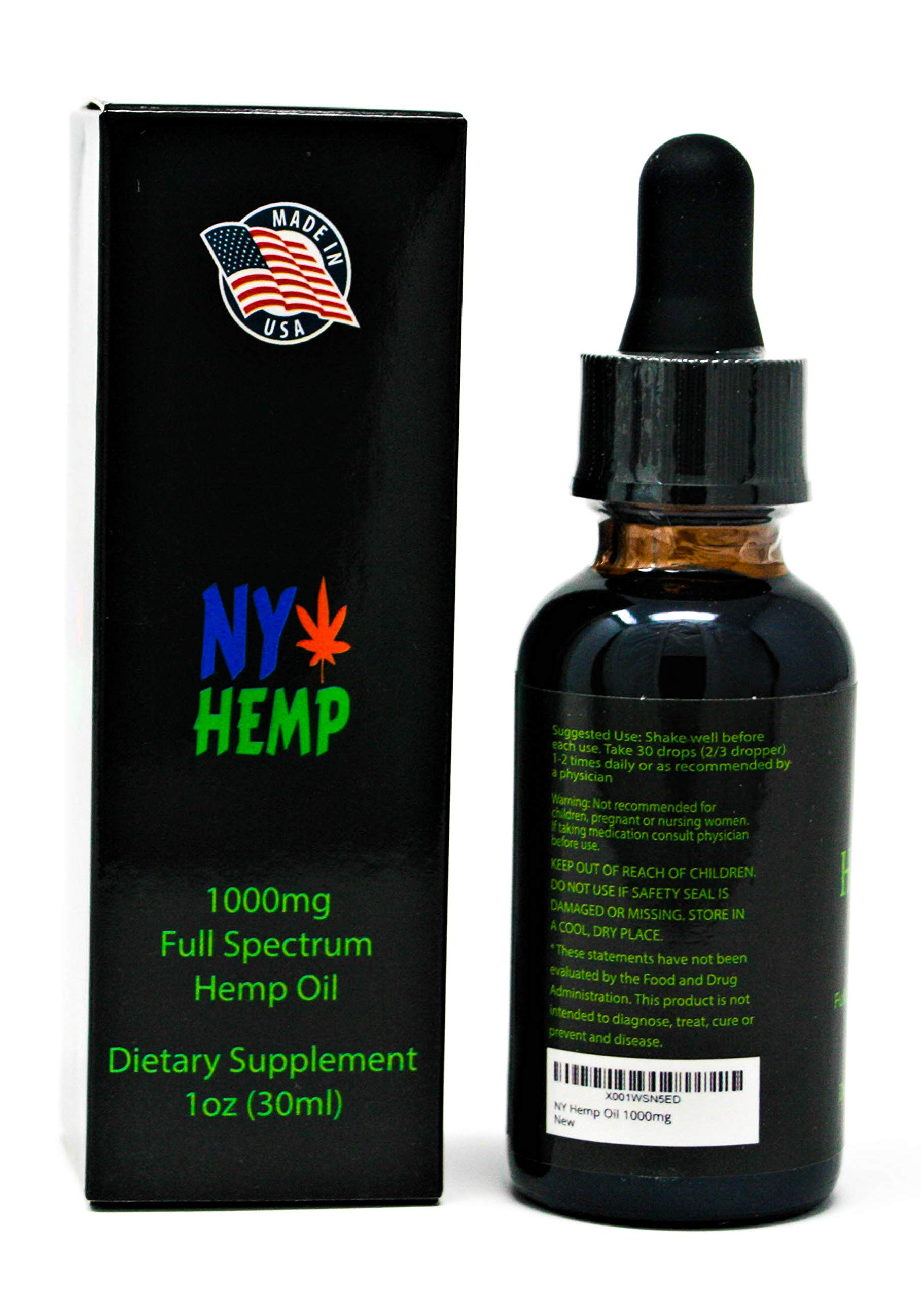 1000mg Pure Full Spectrum Mint Flavored Hemp Oil Extract for Pain Plus Anti  Anxiety Sleep Supplements Relief, Not just for Humans, Great for Pets!