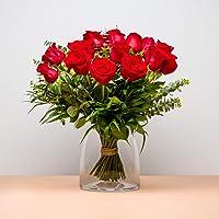 Ramo de 18 Rosas - Versalles - Envío de Ramos de Flores Naturales a Domicilio 24h Gratis - Flores Frescas - Tarjeta…