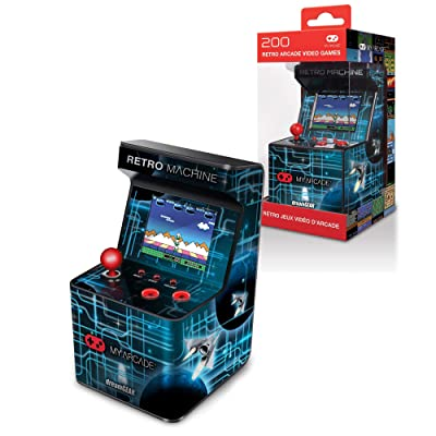 My Arcade Retro Machine Playable Mini Arcade: 200 Retro Style Games Built In, 5.75 Inch Tall, Powered by AA Batteries, 2.5 Inch Color Display, Speaker, Volume Control: Toys & Games