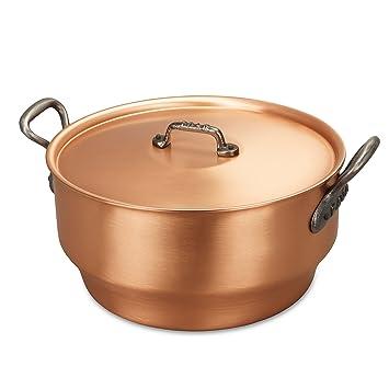 Falk culinair 28 cm cobre olla con mango de hierro fundido y cubierta a juego –