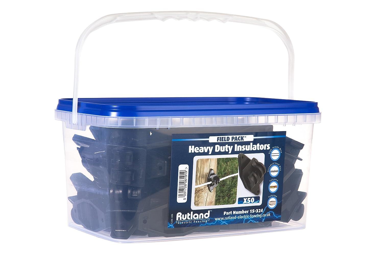 Rutland 15-324R Paquet agricole de 50 isolateurs pour clôtures à poteaux en bois