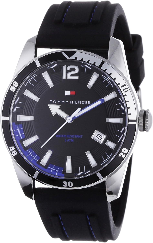 Tommy Hilfiger 1790779 - Reloj de caballero de cuarzo, correa de caucho color negro