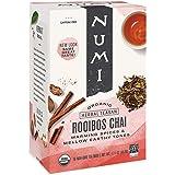 NUMi TEAS Organic Tea Rooibos Chai Herbal Teasans, 18 Count