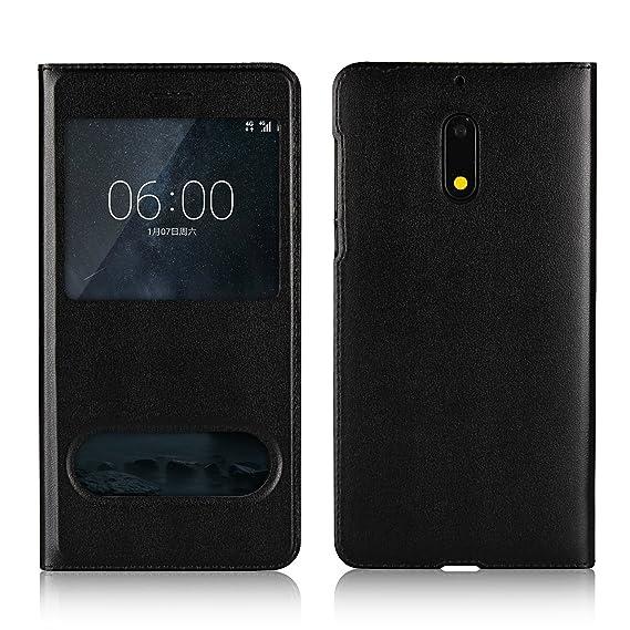 new concept 0ece7 d17a9 Amazon.com: Jaorty Nokia 6 Case,Ultra Thin Flip Cover Case Dual ...
