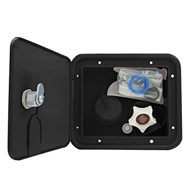 Valterra A01-2004BKVP Gravity/City Water Inlet Hatch - Plastic, Black (Carded): Automotive