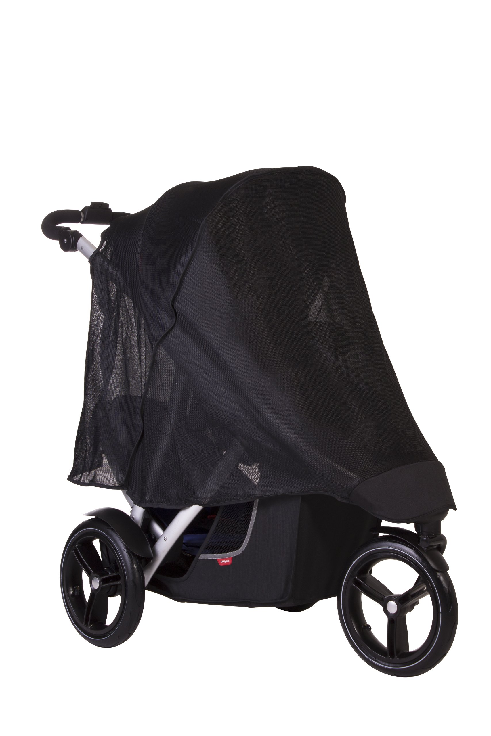phil&teds UV Sunny Days Mesh Cover for Vibe and Verve Strollers, Double