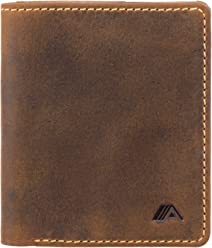 A-SLIM Chikara - RFID Wallet - Scannable Back Slot to Prevent Card Clash - 7 Card Slots and Cash Compartment (Raw Tan)