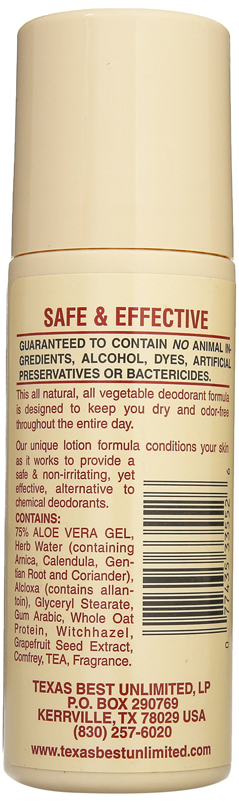 Alvera All Natural Roll-on Deodorant Aloe and Almonds - 3 Oz, 3 Fluid Ounce by Alvera (Image #3)