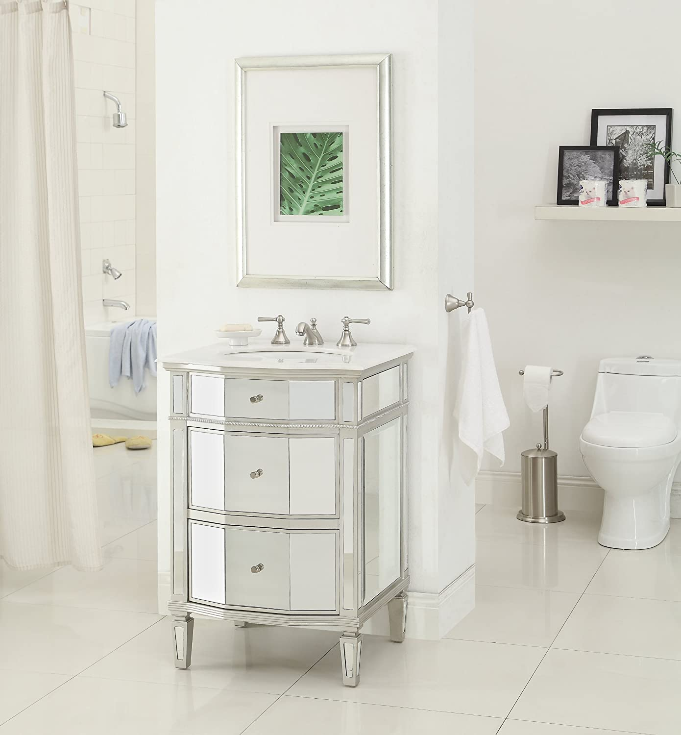 24 All Mirror Petite Bathroom Sink Vanity