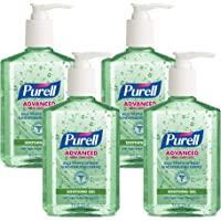PURELL Advanced Hand Sanitizer Soothing Gel, Fresh Scent, with Aloe and Vitamin E - 8 fl oz Pump Bottle (Pack of 4) - 9674-06-EC