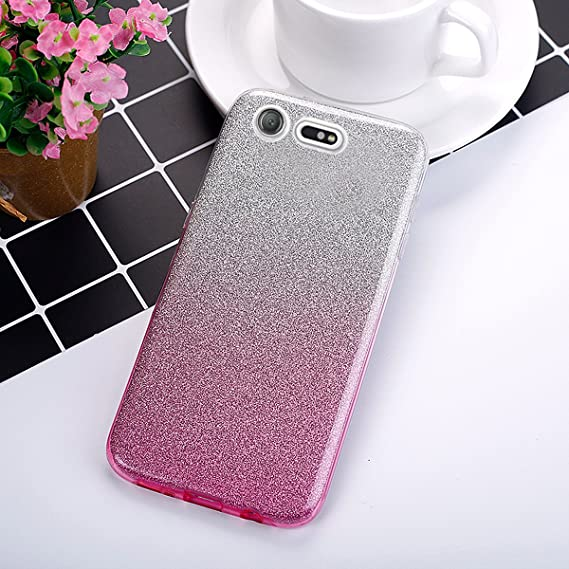 EINFFHO Coque Sony Xperia X Rose 2 in 1 Design cr/éatif Luxe Gradient Glitter Brillant Briller Bling Ultra Mince Souple Silicone Housse /Étui Coque pour Sony Xperia X