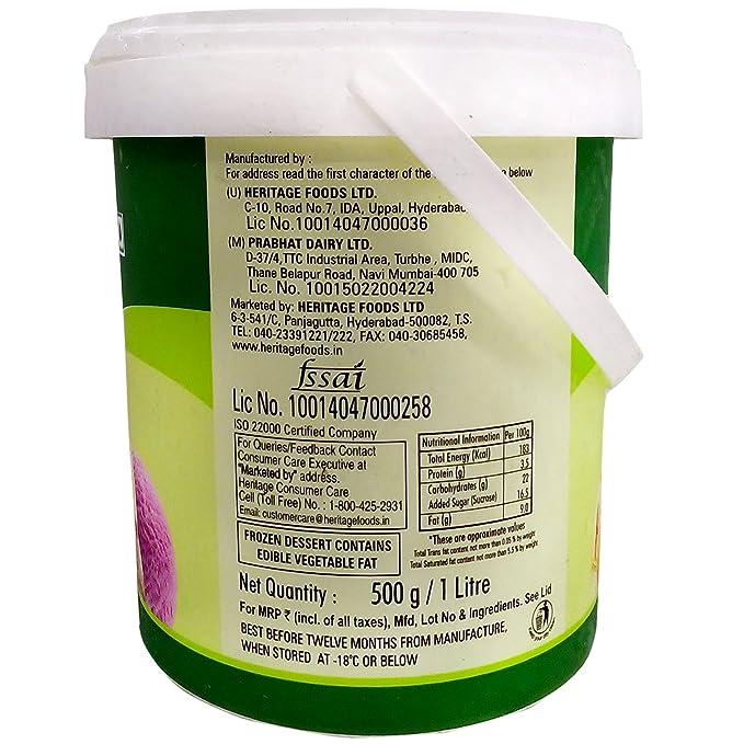 Heritage Ice Cream - Butter Scotch, 1L Tub: Amazon in
