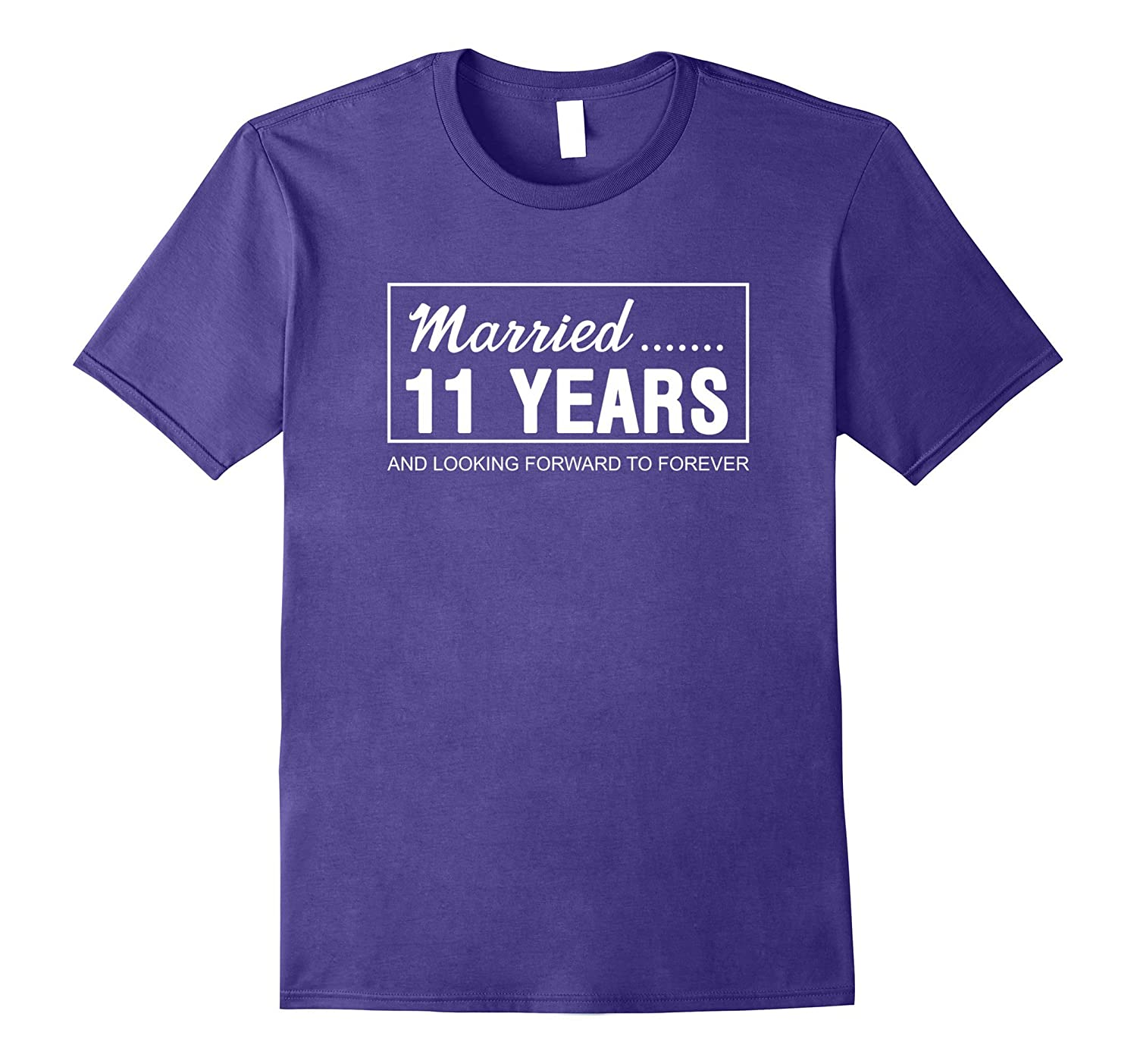 11th Wedding Anniversary Gifts for Him Her Couples T-Shirt-ANZ
