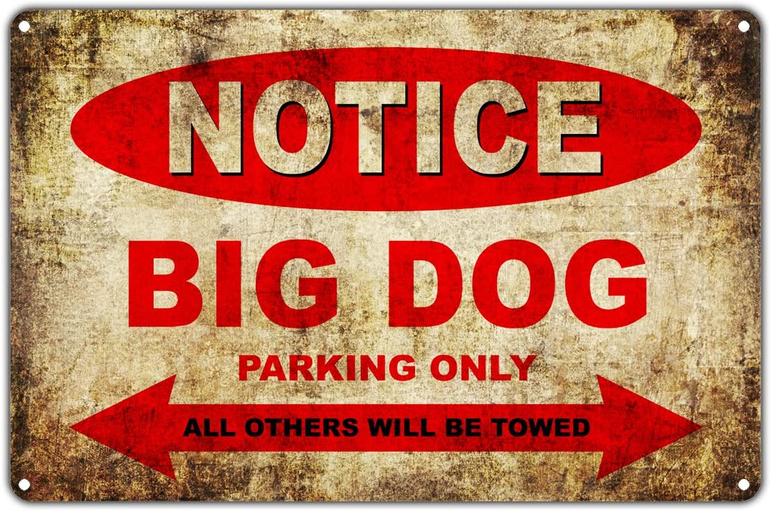 "Big Dog Motorcycles Bikes Only All Others Will Be Towed Parking Sign Vintage Retro Metal Decor Art Shop Man Cave Bar Aluminum 12""x18"" Sign Plate"