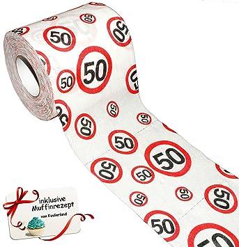 Unbekannt 1 Rolle Toilettenpapier 50 Geburtstag Happy