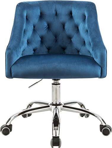 Velvet Fabric Swivel Task Chair