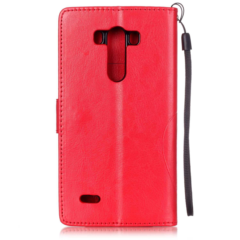EMAXELERS LG G4 H/ülle Glitzer Bling Wishing Tree Schmetterling PU Leder Flip Magnetisch Book Wallet Brieftasche H/ülle f/ür LG G4,Red Wishing Tree with Diamond