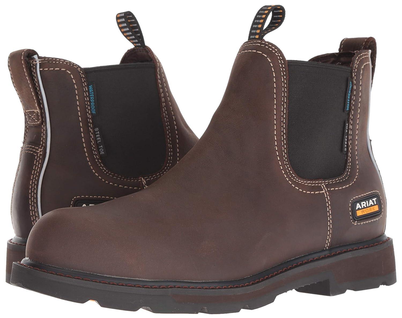 52c2fef449c ARIAT Men's Groundbreaker Chelsea Waterproof Steel Toe Work Boot