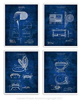Amazon toilet paper roll patent print art poster blueprint 11 gnosis picture archive bathroom posters set of 4 art prints unframed toilet paper roll toilet seat malvernweather Gallery