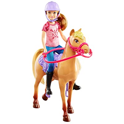 Barbie Camping Fun Stacie Doll Horse Set: Toys & Games
