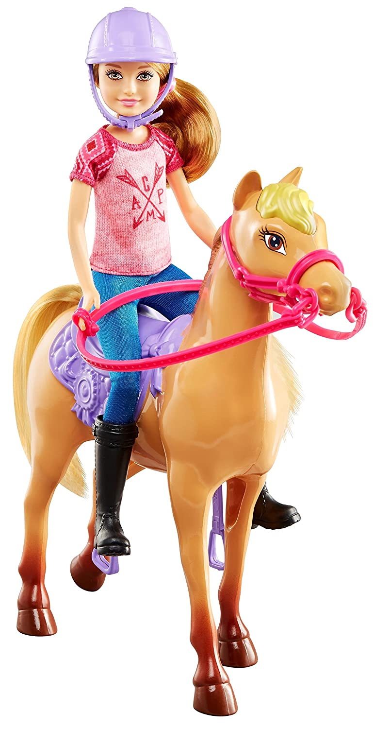 Barbie Camping Fun Stacie Doll Pony Horse Set NEW
