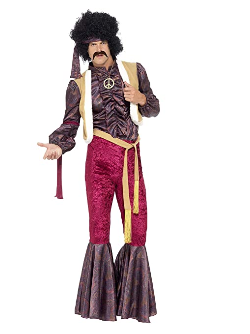 70s Costumes: Disco Costumes, Hippie Outfits Smiffys Mens 70s Psychedelic Rocker Costume $30.63 AT vintagedancer.com