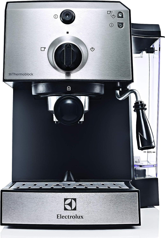 Electrolux EEA111 Cafetera EasyPresso con Bomba Profesional de 15 Bares de presión y función Vapor, 1250 W, 1.25 litros, Plástico, Plata metalizado: Amazon.es: Hogar