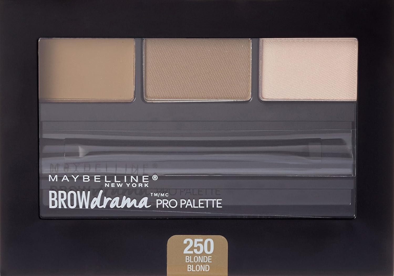 0a362a1023f Amazon.com : Maybelline Brow Drama Pro Eyebrow Palette, Blonde, 0.1 oz. :  Beauty