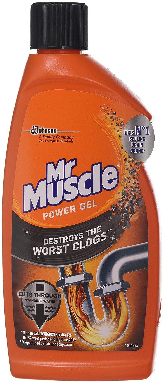 Mr Muscle Max Desatascador Gel, 500 ml, 2 unidades: Amazon.es: Salud y cuidado personal