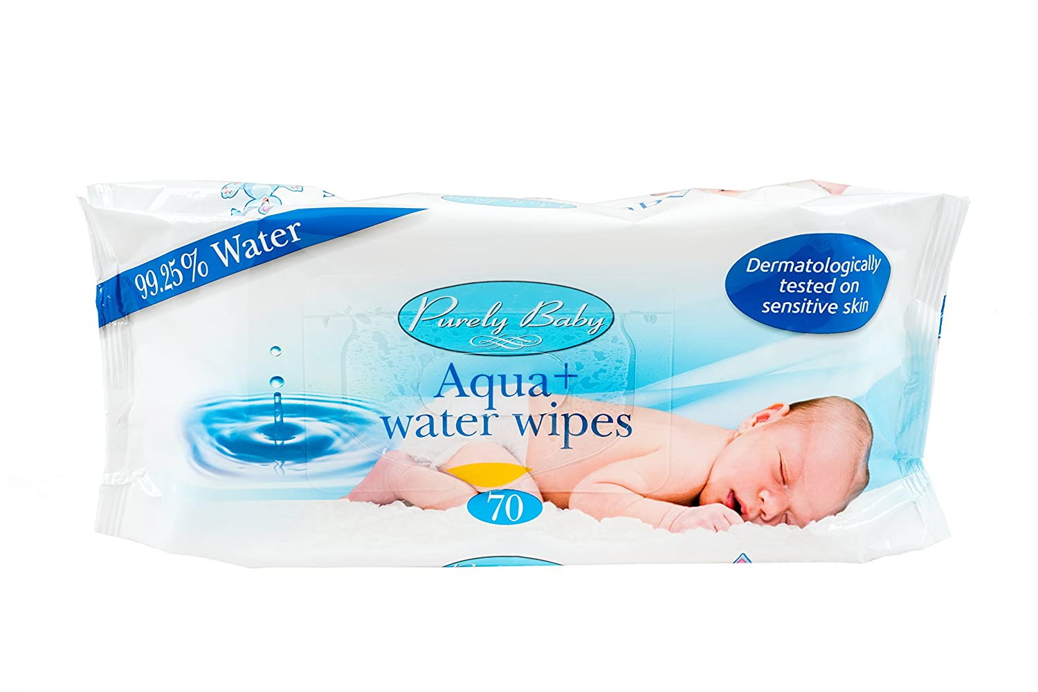Purely Baby Aqua + Water Wipes - 6 Packs of 70 Ability Superstore 58620-1