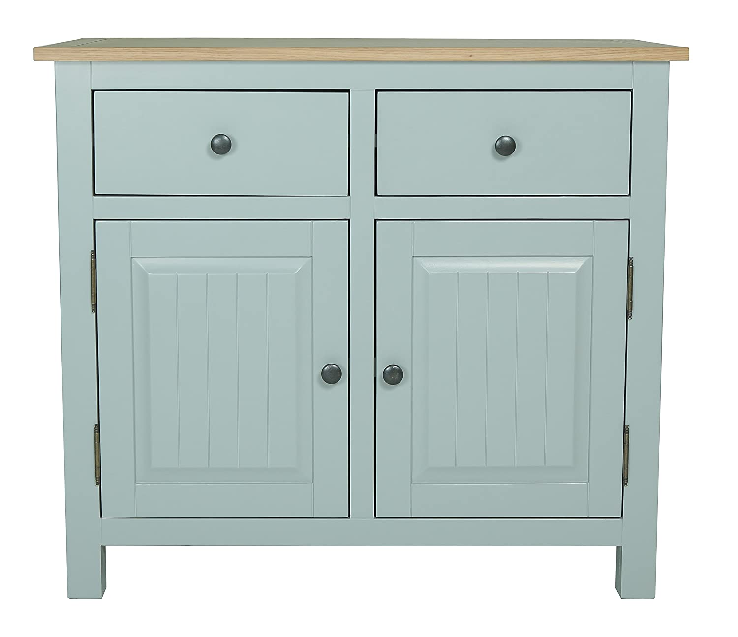 Furniture 247 Newcam Wooden Sideboard, Small - Natural Oak and Cream ...