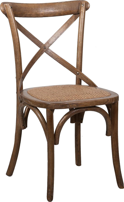 Silla Thonet en fresno macizo y asiento de ratán acabado en madera de