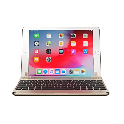 8afacd966fd Amazon.com: Brydge 9.7 iPad Keyboard, Aluminum Bluetooth Keyboard for 9.7  inch iPad (6th Gen), 5th Gen iPad (2017), iPad Pro 9.7 inch, Air 1 and 2  (Gold): ...