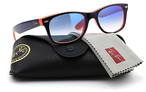 dd2a37f15 ... sale ray ban rb2132 789 3f new wayfarer unisex sunglasses gradient blue  orange frame 0d156 75b23