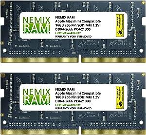 32GB 2X16GB NEMIX RAM Memory for Apple Mac Mini 2018