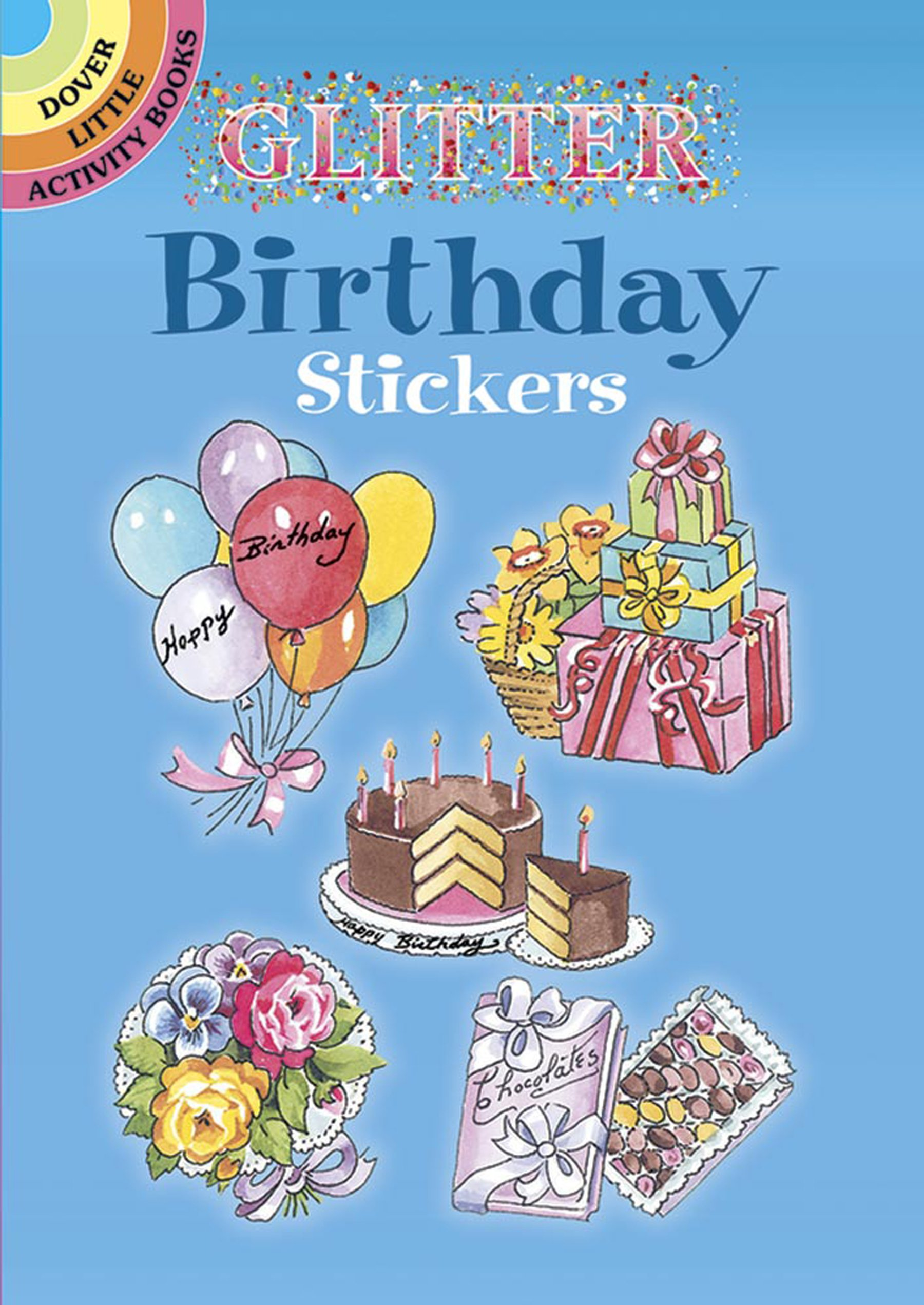 Glitter Birthday Stickers (Dover Stickers)