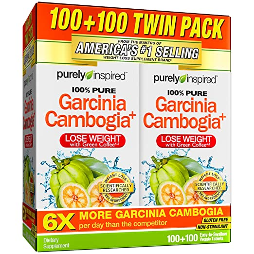 Amazon.com: Purely Inspired 100% Pure Garcinia Cambogia Extract with HCA,  200 Count: Health & Personal Care