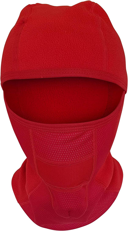 Red Biker Balaclava Winter Sports Face Mask Skiing