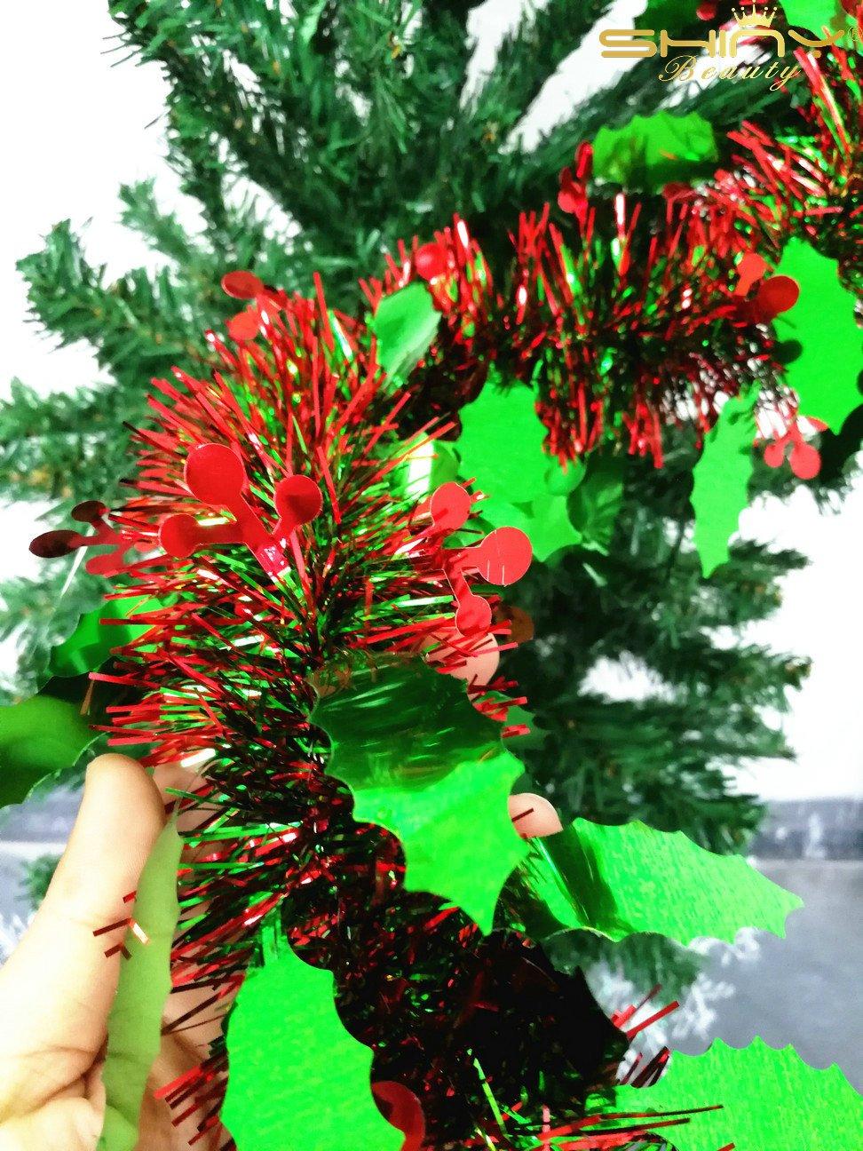 Amazon.com: Metallic Foil-Tinsel-Garland-6.5 Feet long for Christmas ...
