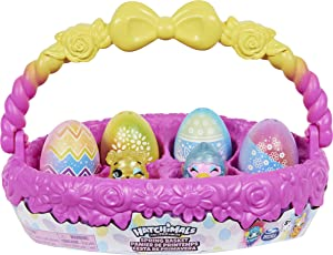 Hatchimals CollEGGtibles, Spring Basket with 5 Characters and 3 Pets, Girl Toys, Girls Gifts for Ages 5 and up