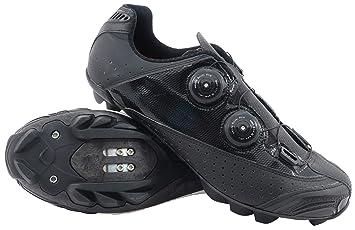 LUCK , Zapatillas de Ciclismo MTB Laser, con Suela de Carbono, Doble Sistema rotativo y Tacos de Goma Natural.: Amazon.es: Deportes y aire libre