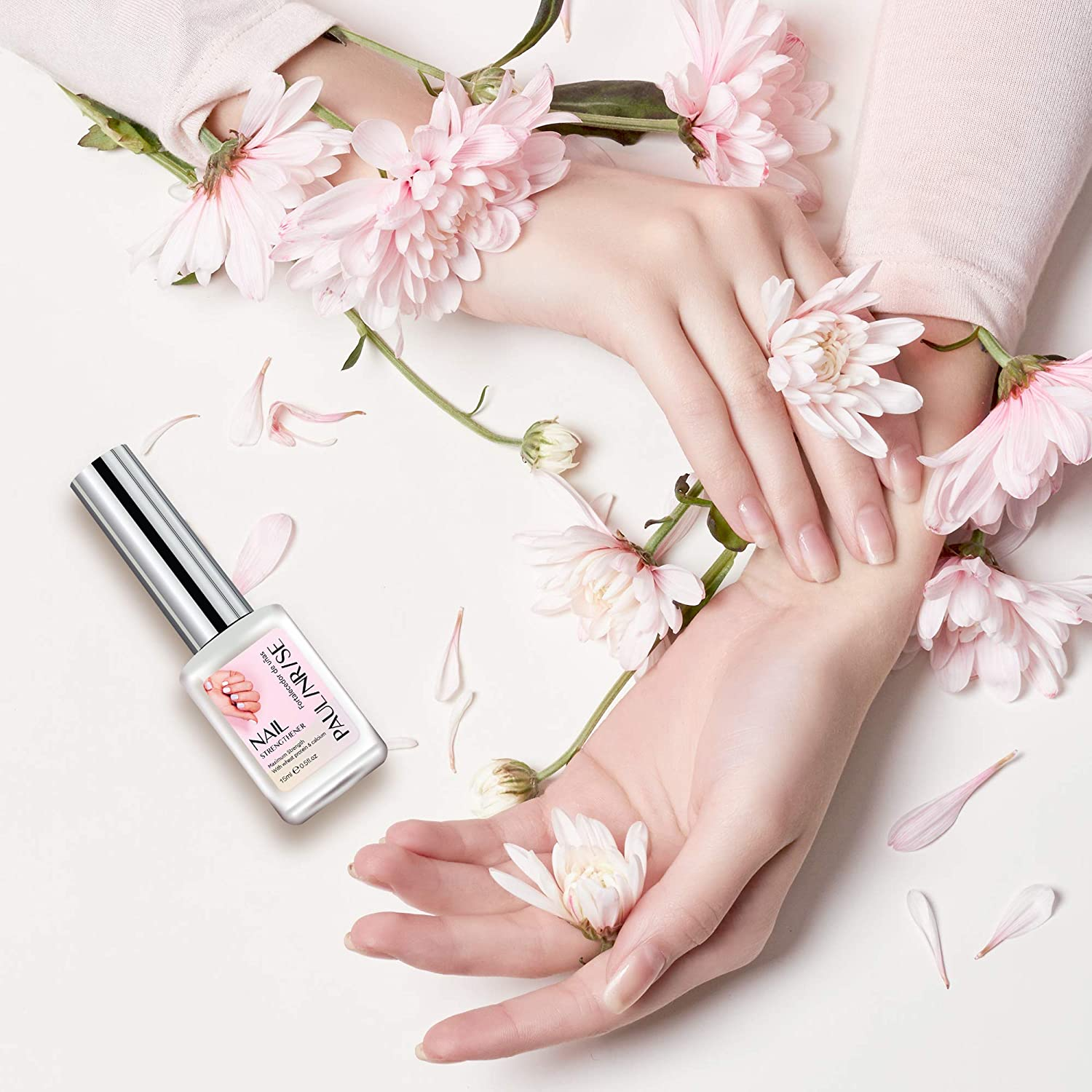 Paulinrise Nail Strengthener for Treating Weak, Damaged Nails, Promotes Growth, Use as a Top Coat or Base Coat : Beauty