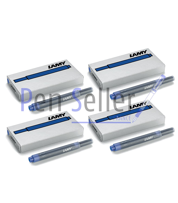 Lamy Blue T10 Fountain Pen Ink Cartridges - 4 Packs (20 Cartridges)